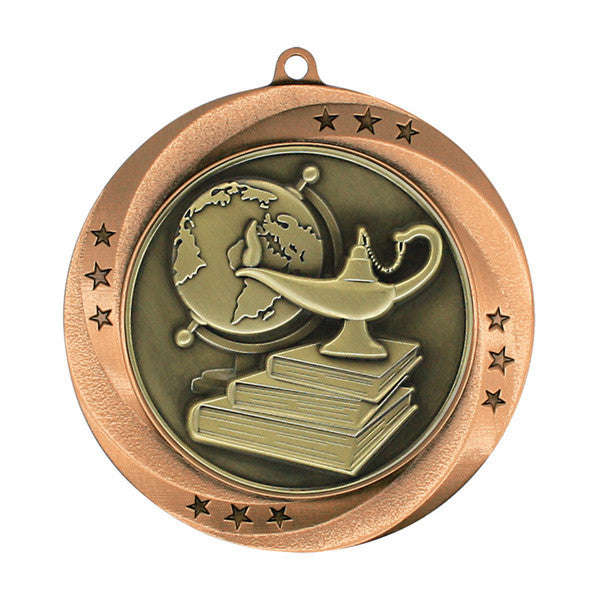 "Lamp of Knowledge Medallion - Matrix Series - 2 3/4"" Diameter (A2767) - Quest Awards"
