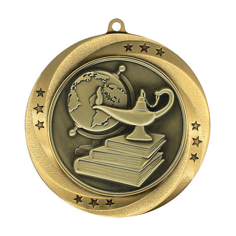 "Lamp of Knowledge Medallion - Matrix Series - 2 3/4"" Diameter - Quest Awards"