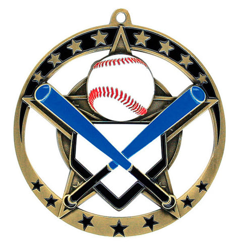 "Baseball Medallion - Star Series 2 3/4"" Diameter (A2166) - Quest Awards"