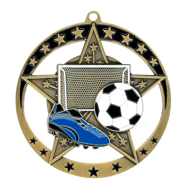 "Soccer Medallion - Star Series 2 3/4"" Diameter"