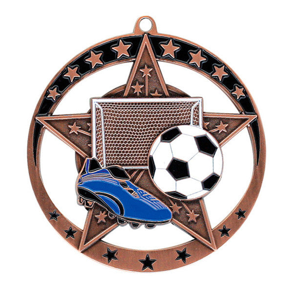 "Soccer Medallion - Star Series 2 3/4"" Diameter (A2991) - Quest Awards"