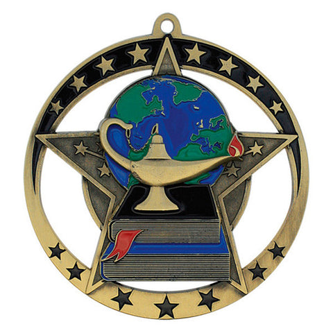 "Academic Medallion - Star Series 2 3/4"" Diameter (A2016) - Quest Awards"