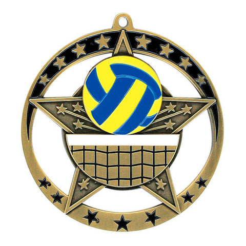 "Volleyball Medallion - Star Series 2 3/4"" Diameter"