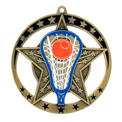 "Lacrosse Medallion - Star Series 2 3/4"" Diameter"