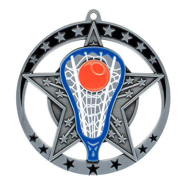 "Lacrosse Medallion - Star Series 2 3/4"" Diameter (A2750) - Quest Awards"