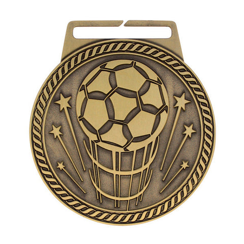 "Soccer Medal - Titan Series - Wide Ribbon - 3"" Diameter"