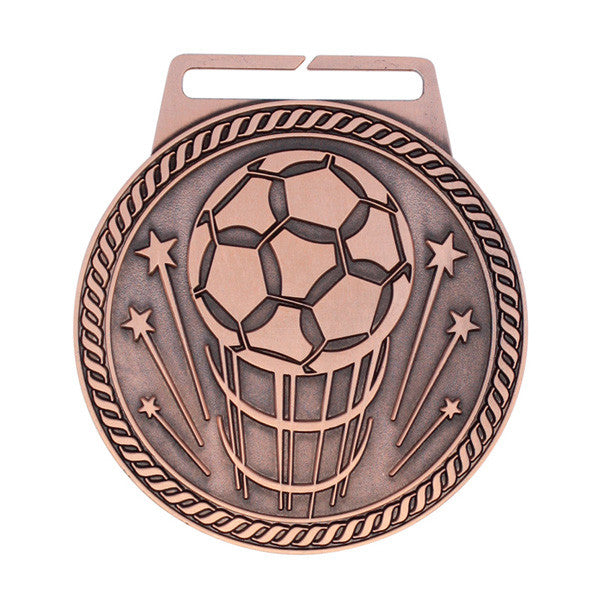 "Soccer Medal - Titan Series - Wide Ribbon - 3"" Diameter (A2980) - Quest Awards"