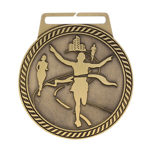 "Marathon Medal - Titan Series - Wide Ribbon - 3"" Diameter (A2826) - Quest Awards"