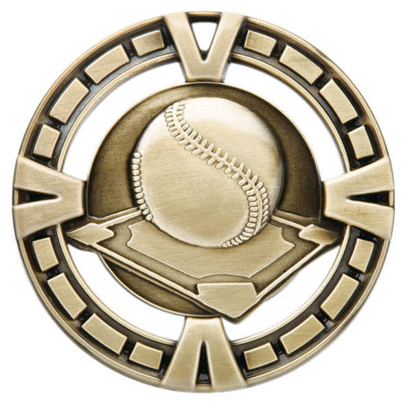 "Baseball Medallion - Varsity Sports Medals - 2 1/2"" Diameter (A2168) - Quest Awards"
