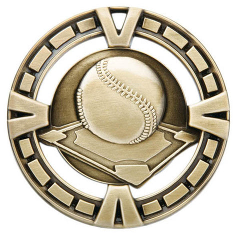 "Baseball Medallion - Varsity Sports Medals - 2 1/2"" Diameter"