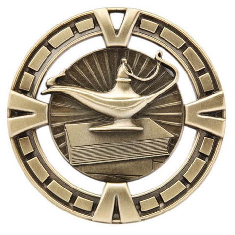 "Lamp of Knowledge Medallion - Varsity Sports Medals - 2 1/2"" Diameter"