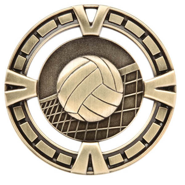 "Volleyball Medallion - Varsity Sports Medals - 2 1/2"" Diameter (A3174) - Quest Awards"