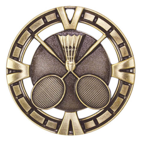 "Badminton Medallion - Varsity Sports Medals -  2 1/2"" Diameter"