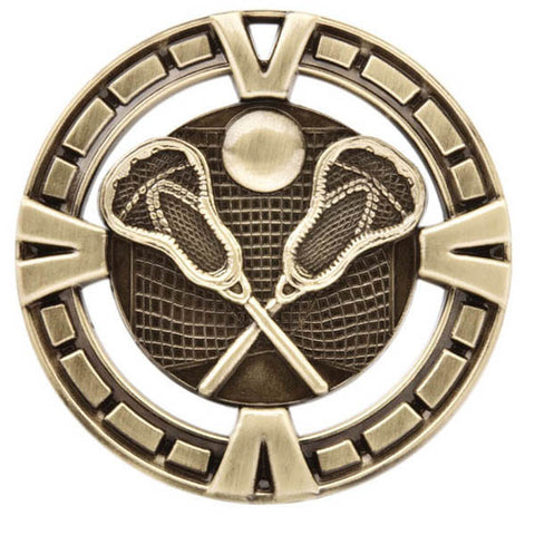 "Lacrosse Medallion - Varsity Sports Medals - 2 1/2"" Diameter - Quest Awards"