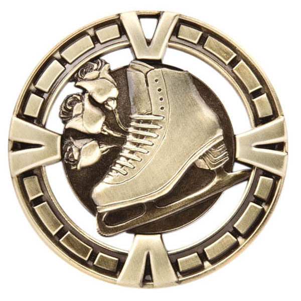 "Figure Skating Medallion - Varsity Sports Medals - 2 1/2"" Diameter (A2404) - Quest Awards"