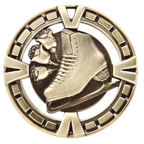 "Figure Skating Medallion - Varsity Sports Medals - 2 1/2"" Diameter"