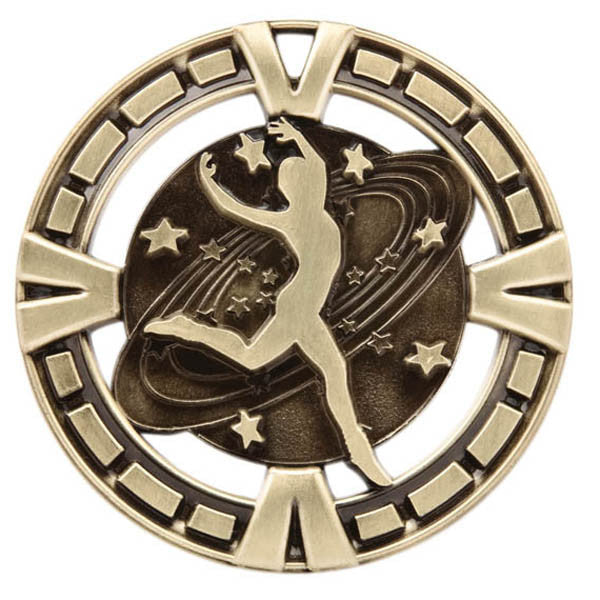 "Dance Medallion - Varsity Sports Medals - 2 1/2"" Diameter (A2387) - Quest Awards"