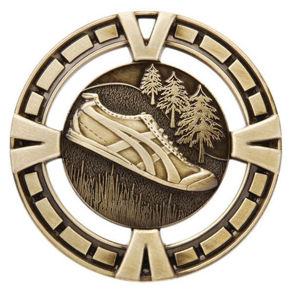 "Cross Country Medallion - Varsity Sports Medals -  2 1/2"" Diameter (A2289) - Quest Awards"