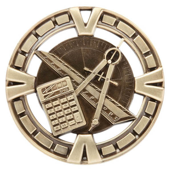 "Math Medallion - Varsity Sports Medals - 2 1/2"" Diameter (A2835) - Quest Awards"