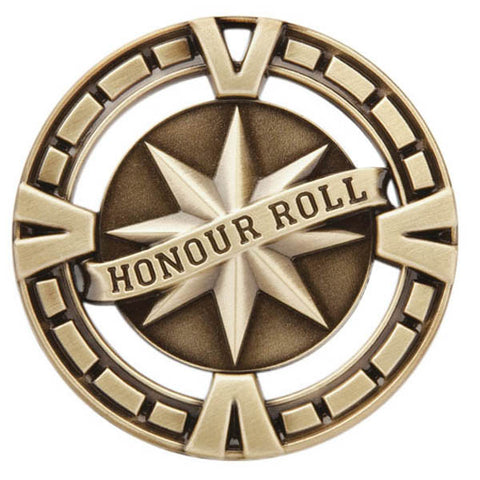"Honor Roll Medallion - Varsity Sports Medals -  2 1/2"" Diameter"