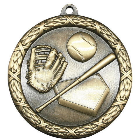 "Baseball Medallion - Classic Heavyweight Medals - 2 1/2"" Diameter (A3779)"