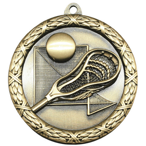 "Lacrosse Medallion - Classic Heavyweight Medals -  2 1/2"" Diameter (A3787)"