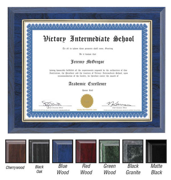 certificate frame with gold border a2263 quest awards