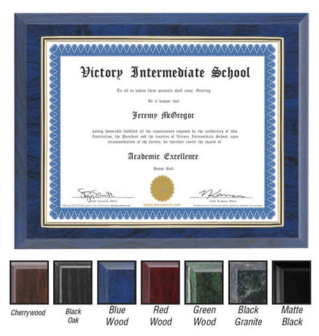 Certificate Frame with Gold Border (A2263) - Quest Awards