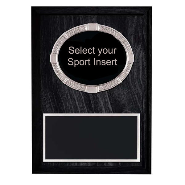 Plaque - Silver/Black Sports Inserts on Laminate Plaque (A2920) - Quest Awards