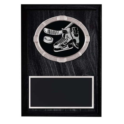 Hockey Plaque - Impact Medal mounted on Laminate Plaque