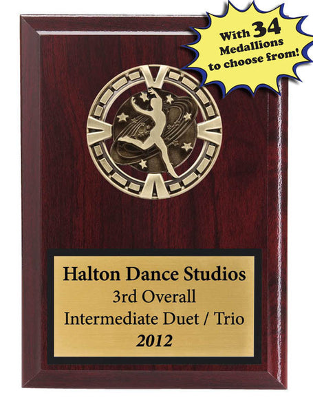 "Plaque - Varsity Medallion Plaque - 5"" x 7"" - 34 Activities Available (A2927) - Quest Awards"