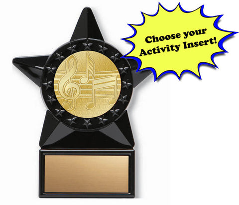 Trophy - Economy Black Star Insert Award - Quest Awards - 1