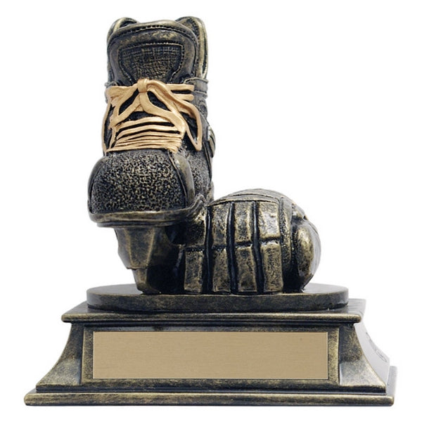 Hockey Trophy - Aztec Gold Skate and Glove (A2642) - Quest Awards