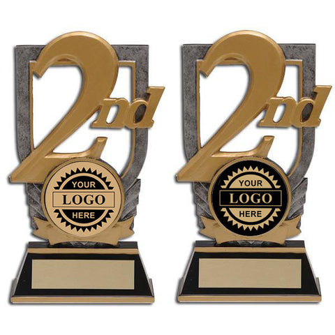 Logo Insert Trophy - 2nd Place Stand - Quest Awards