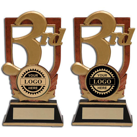 Logo Insert Trophy - 3rd Place Stand