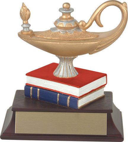 Lamp of Knowledge Trophy - Coloured Books - Quest Awards