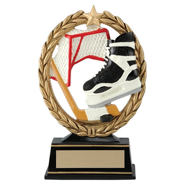 Hockey Trophy - Negative Space Skate & Net (A2690) - Quest Awards