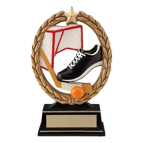 Ball Hockey Trophy - Negative Space Full Colour (A2153) - Quest Awards