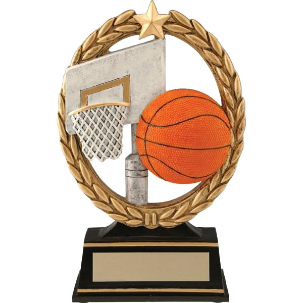 Basketball Trophy - Negative Space - Quest Awards