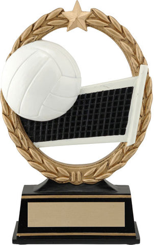 Volleyball Trophy - Negative Space Ball/Net - Quest Awards