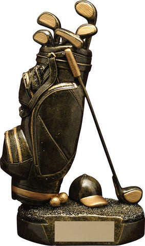 Golf Trophy - Aztec Gold Golf Bag (A2584) - Quest Awards