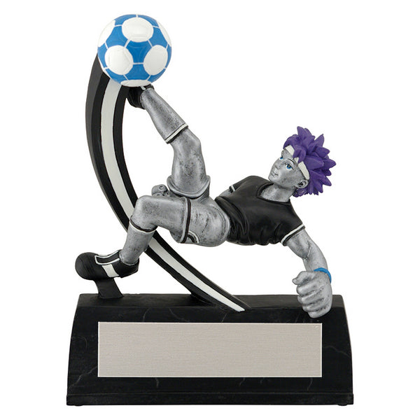 "Soccer Trophy - Manga - Male - 5 1/4"" Tall (A3565) - Quest Awards"