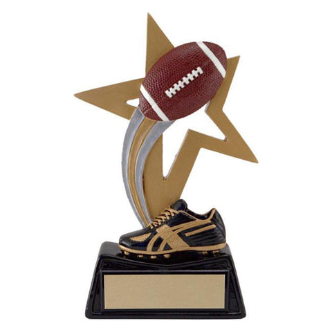 Football Trophy - Big Star - 2 Sizes (A2441) - Quest Awards