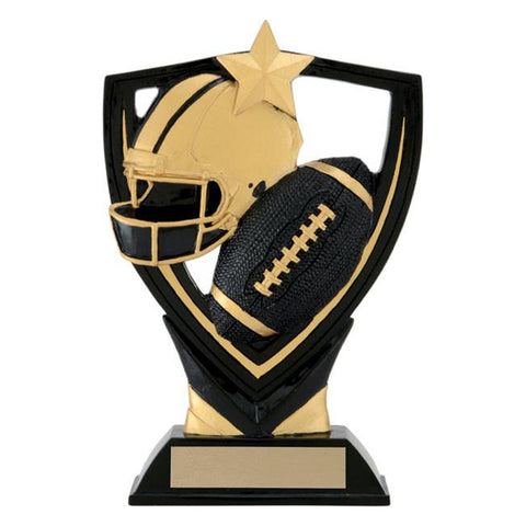 Football Trophy - Apex Shield - 2 Sizes (A2439) - Quest Awards