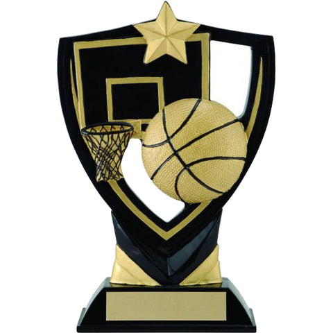 Basketball Trophy - Apex Shield (A2212) - Quest Awards