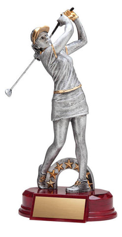 Golf Trophy - Classic Female Golfer (A2588) - Quest Awards