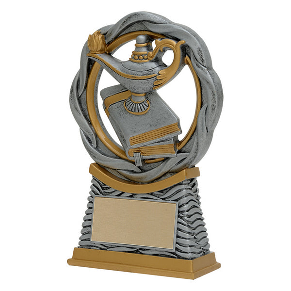 Academic Trophy - Lamp of Knowledge - Fusion - 2 Sizes (A3606) - Quest Awards