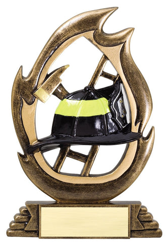 Firefighter Trophy - Resin Flame Award (A2414) - Quest Awards