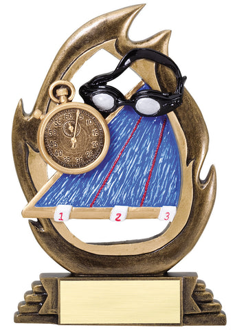 Swimming Trophy - Flame Swimming - Quest Awards