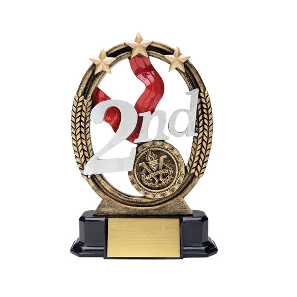 Achievement Trophy - Tri-Star 2nd Place (A2044) - Quest Awards